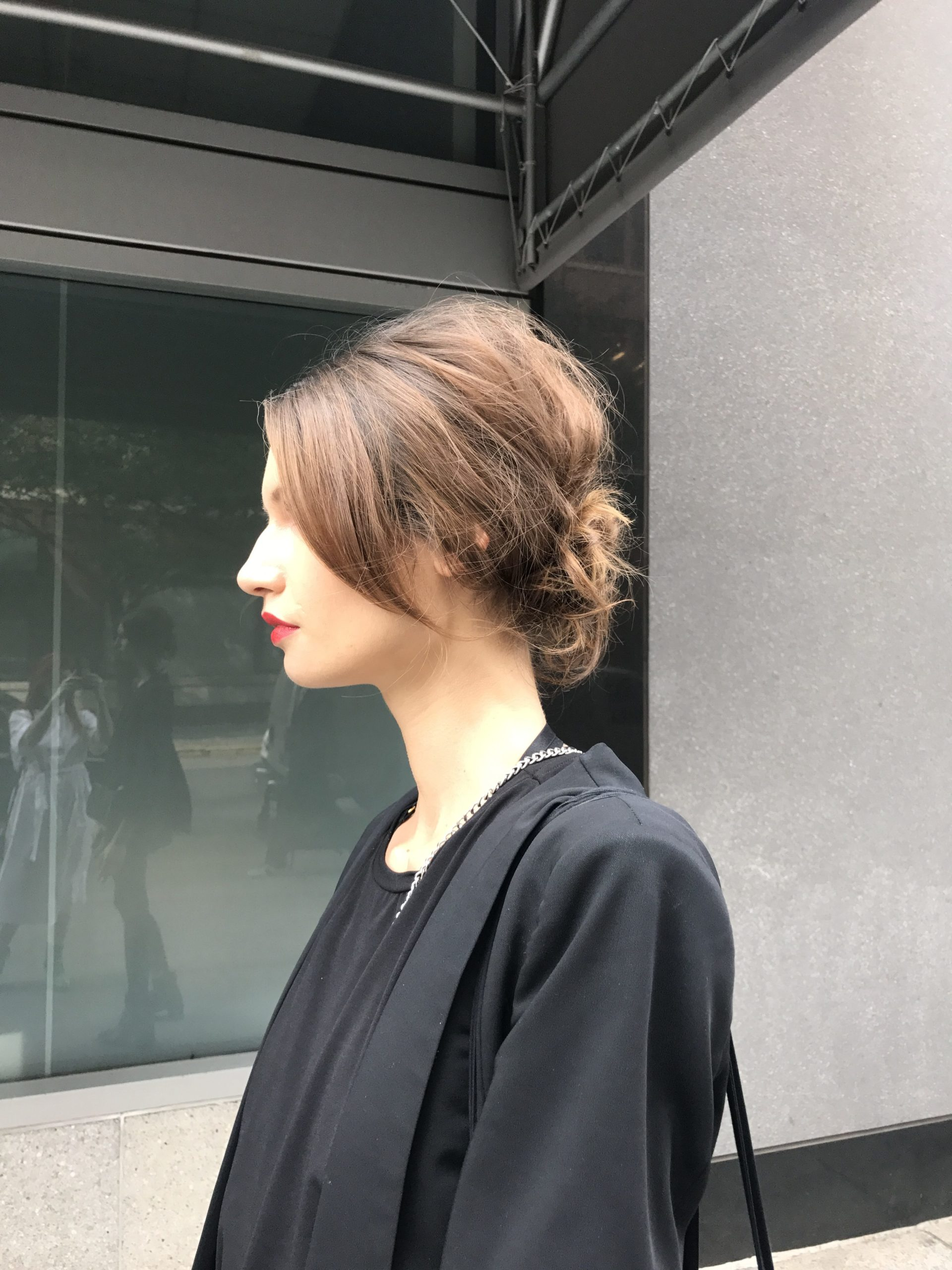 Best Street Style Hair model off duty up do