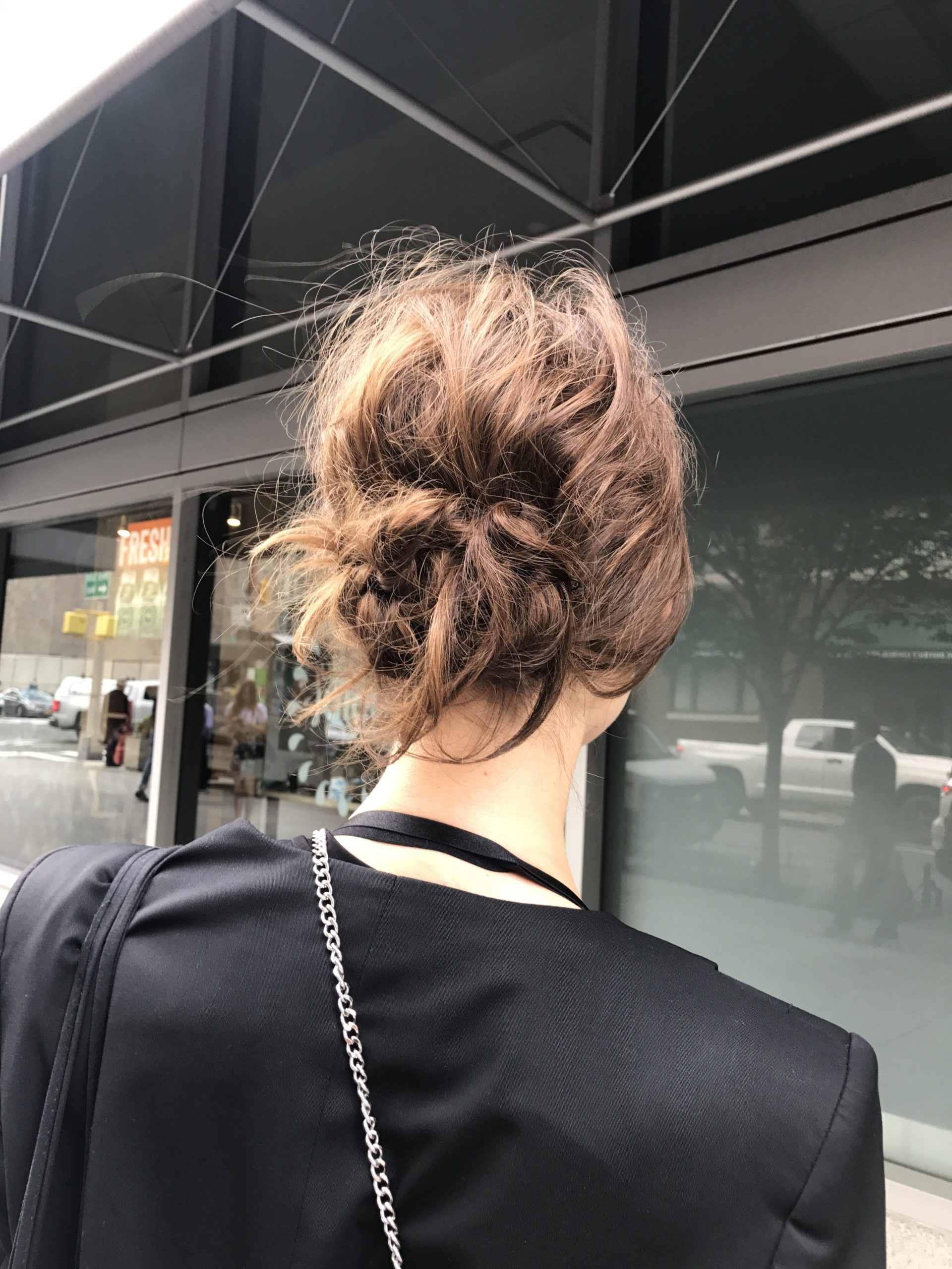 Best Street Style Hair Spring 2018 Low Chignon