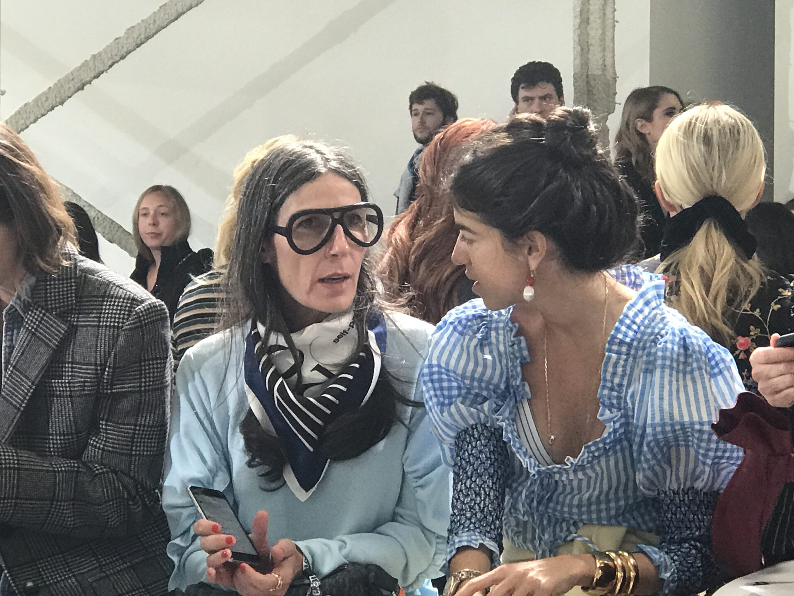 Gray hair front row fashion week