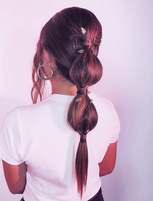 justine-marjan-bubble-ponytail