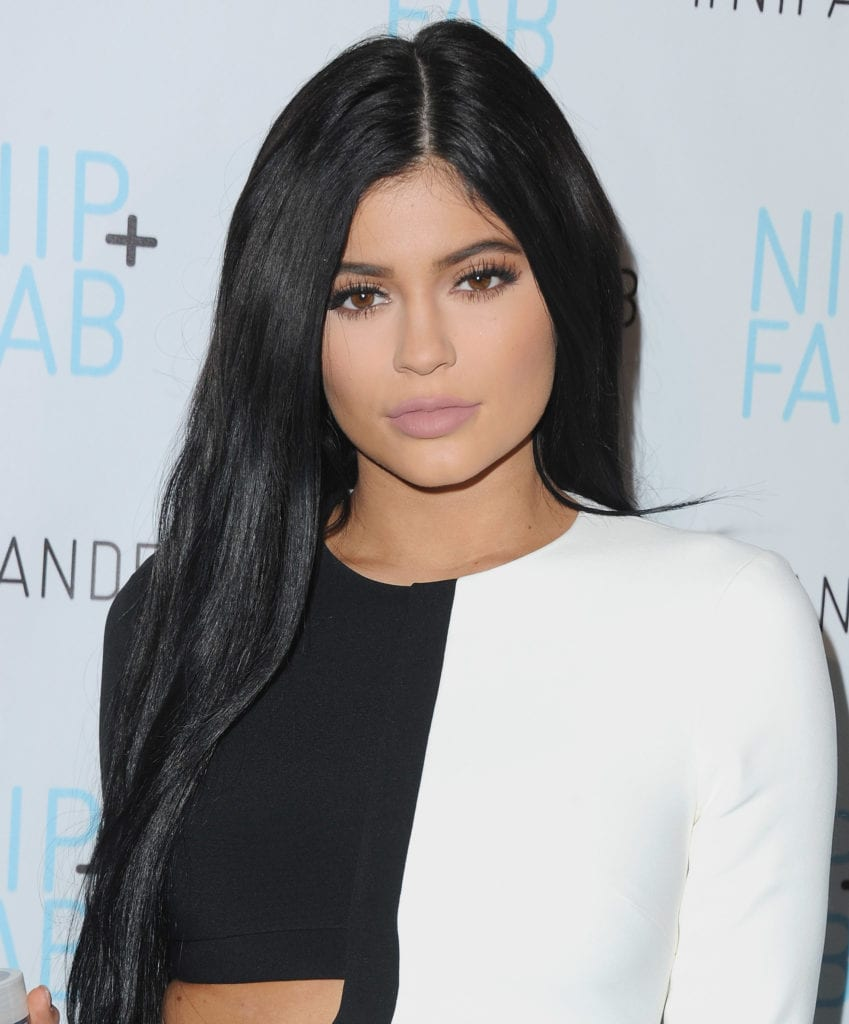 Kylie Jenner attends the announcement of her brand ambassadorship of Nip + Fab