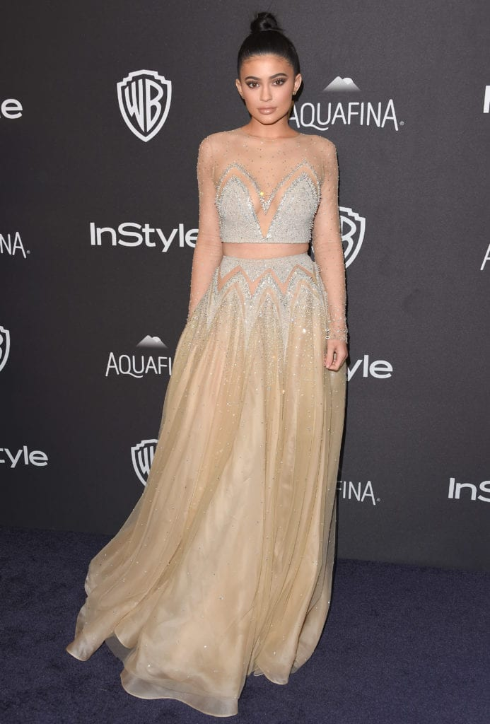 Kylie Jenner attends InStyle and Warner Bros. 73rd Annual Golden Globe Awards Post-Party in 2016