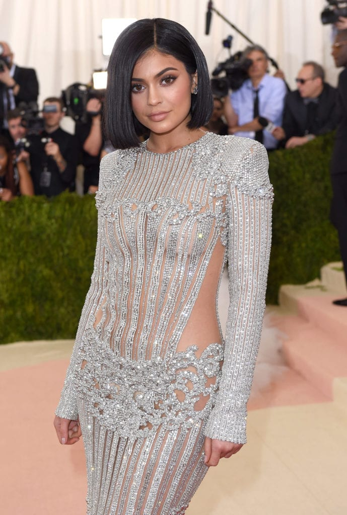 Kylie Jenner attends the 2016 Met Gala in a sparkly Balmain ensemble