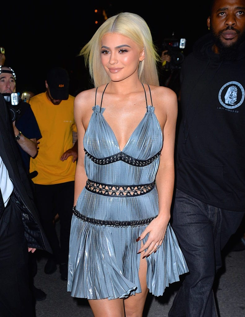 Kylie Jenner is spotted in New York City with yellow-blonde hair