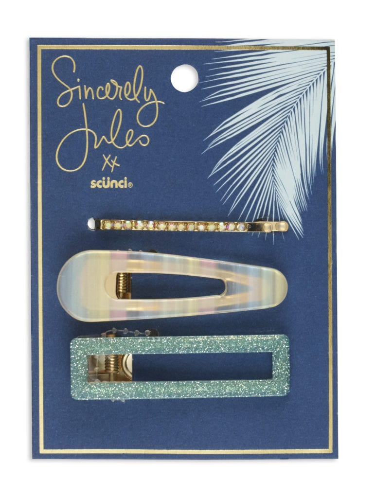 Sincerely Jules x scunci Hair Clip Set, 3PK_ Packaging