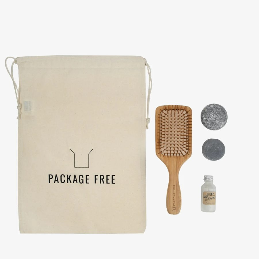 Zero-waste hair care kit from Package Free